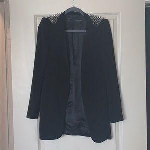 Zara Spiked open blazer